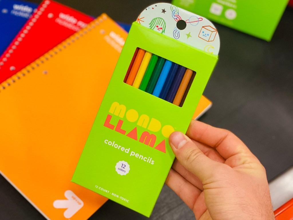 mondo llama colored pencils