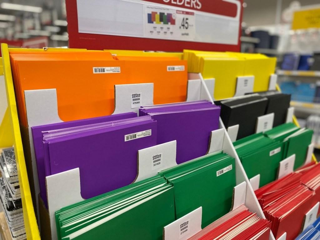 folders at Office Depot