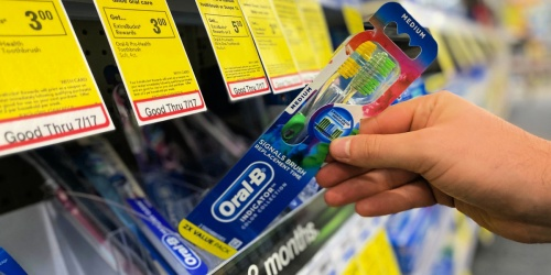 Oral-B Twin Pack Toothbrushes Only 19¢ After CVS Rewards   Just Use Your Phone