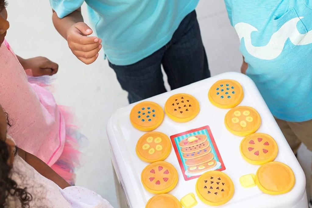 kids playing pancake educational game