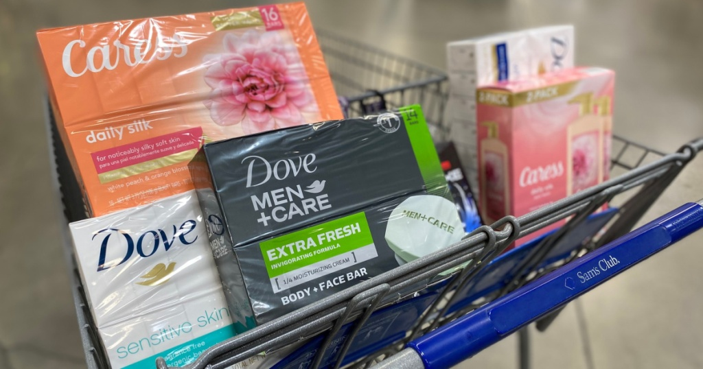 personal care items in sams club cart in store