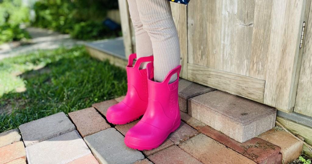 pink kids rainboots