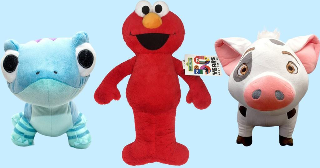 Salamander, Elmo and Pig plush