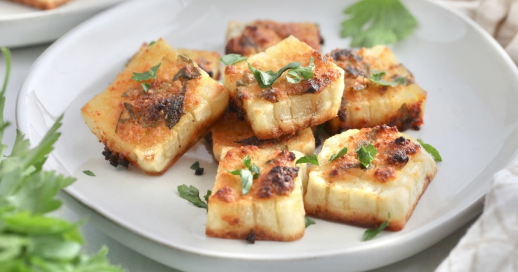 potato bites on a plate