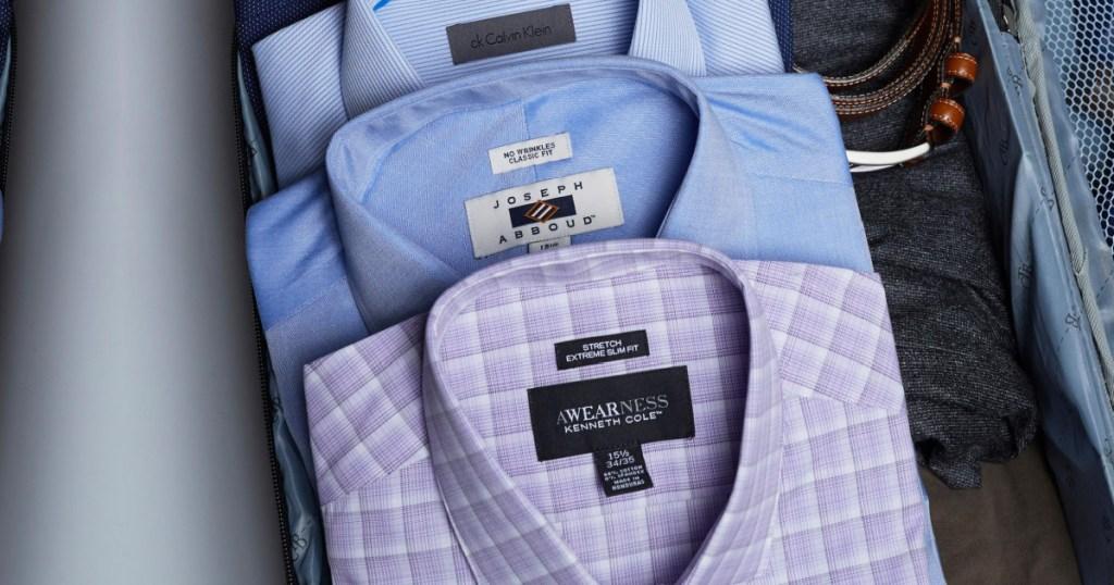 purple mens dress shirt