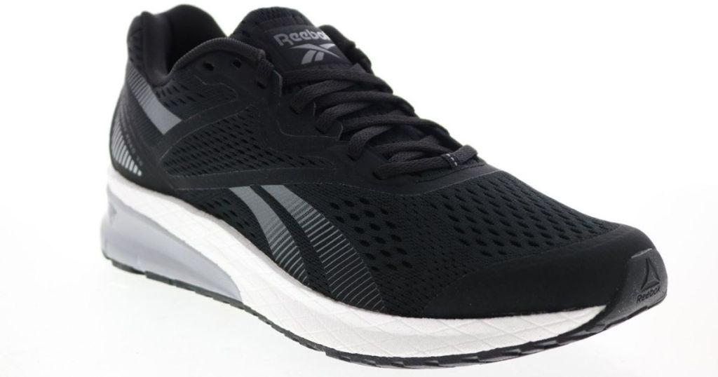 black and white Reebok Men's Shoes