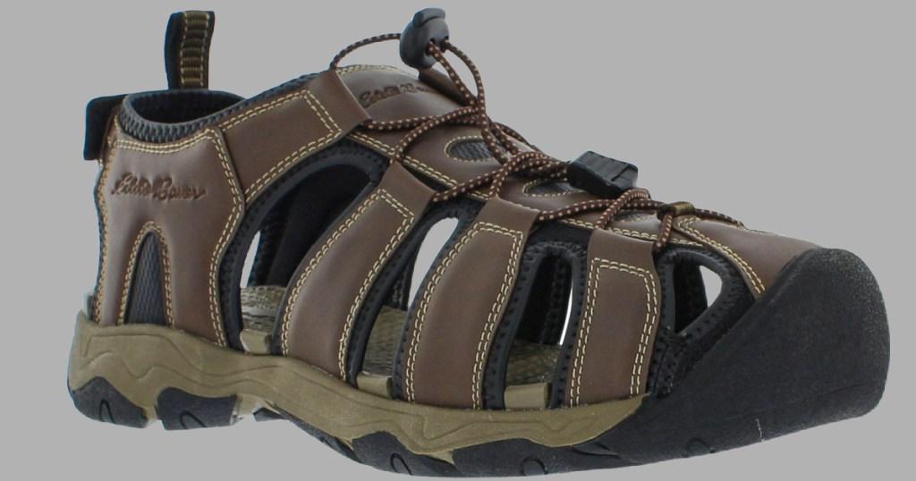 brown and black Eddie Bauer sandals