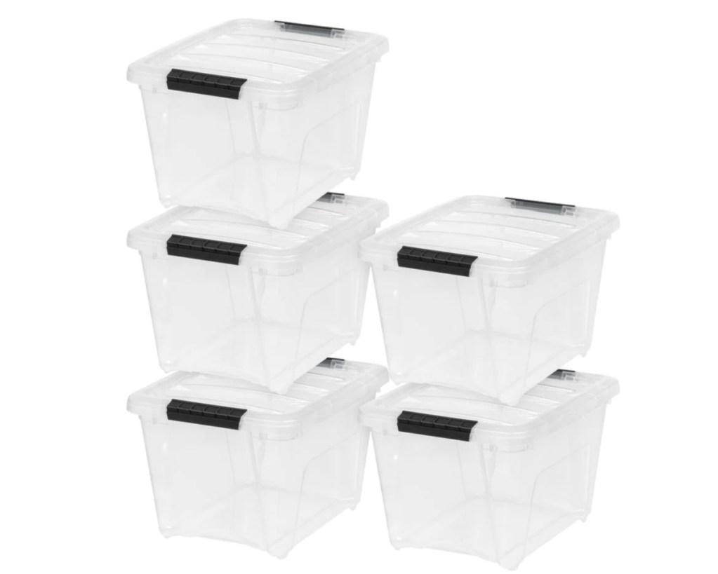 storage bin 5 pack