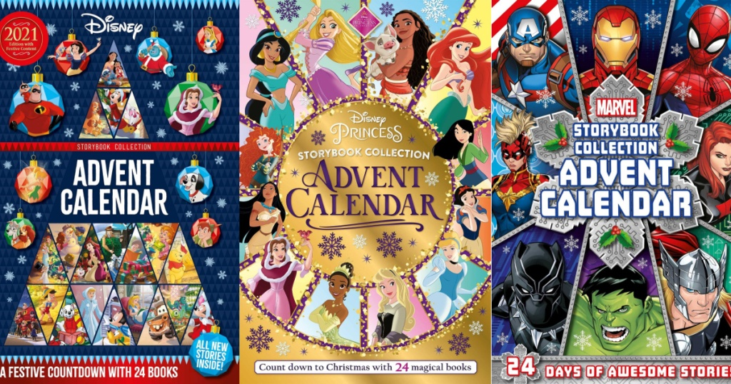 Disney Pixar and Marvel Advent calendars