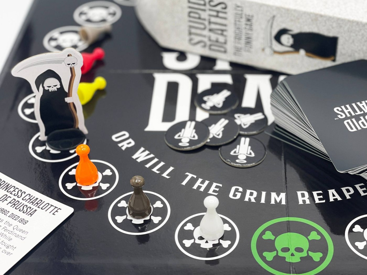 board game showing grim reaper