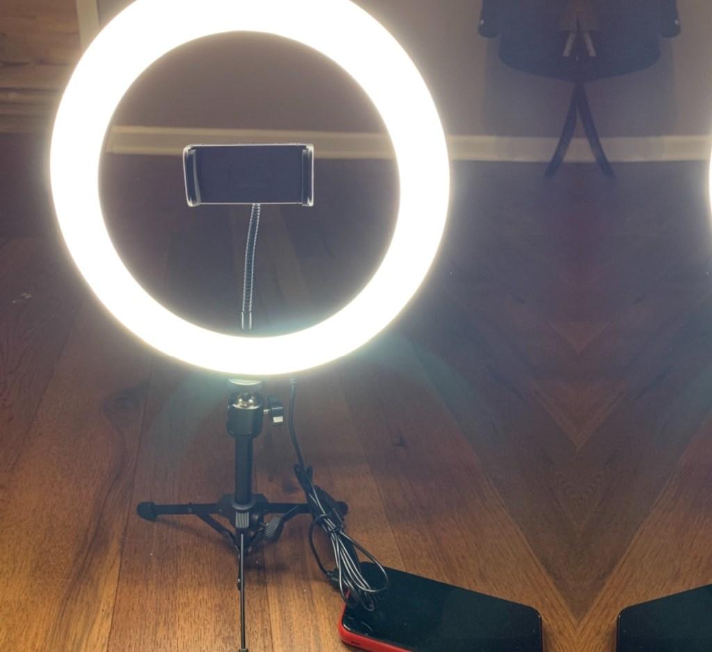 techvilla ring light turned on