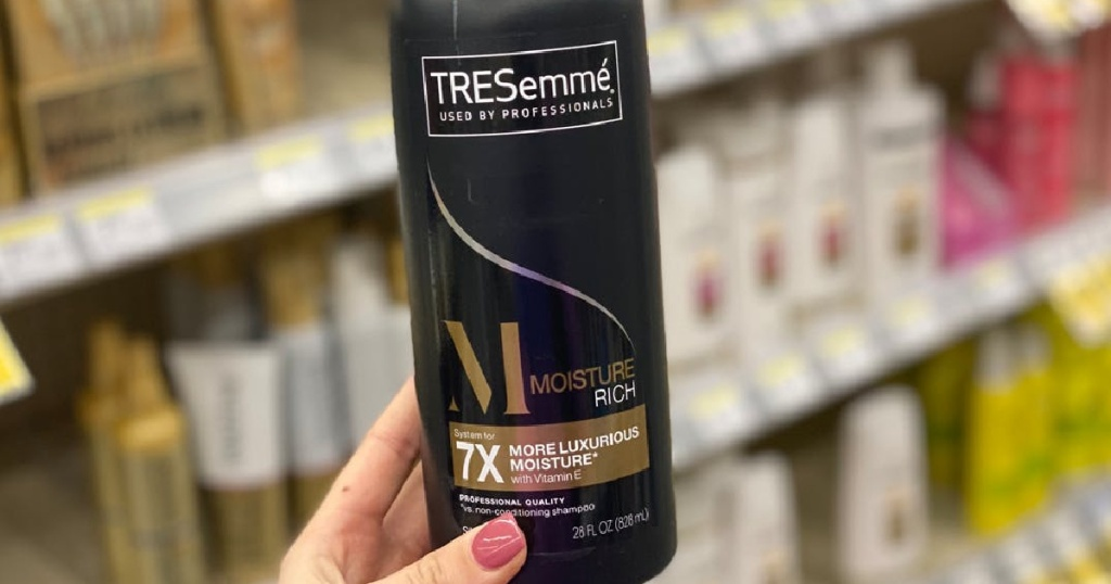 tresemme shampoo in romans hands
