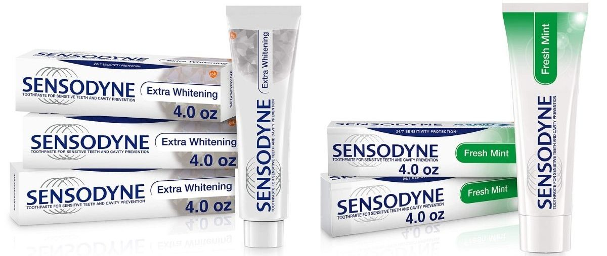 two Sensodyne Toothpaste Packs