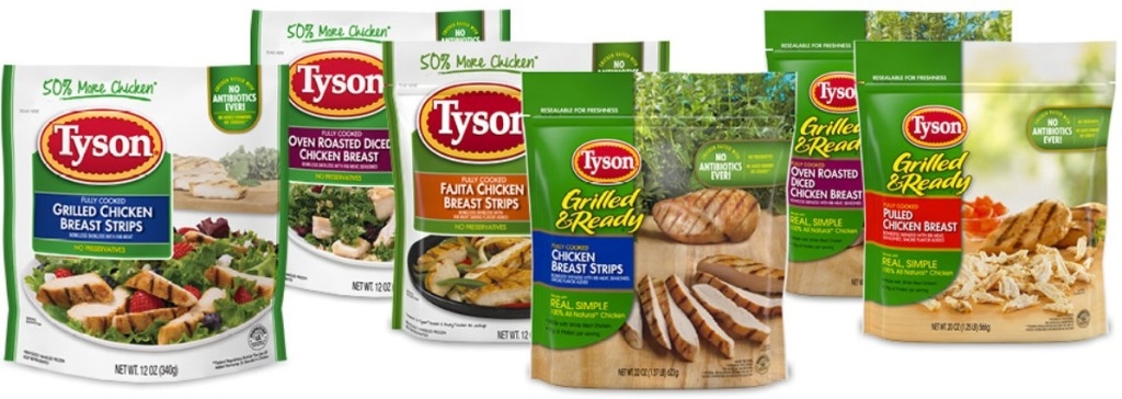 images of recalled Tyson chicken products