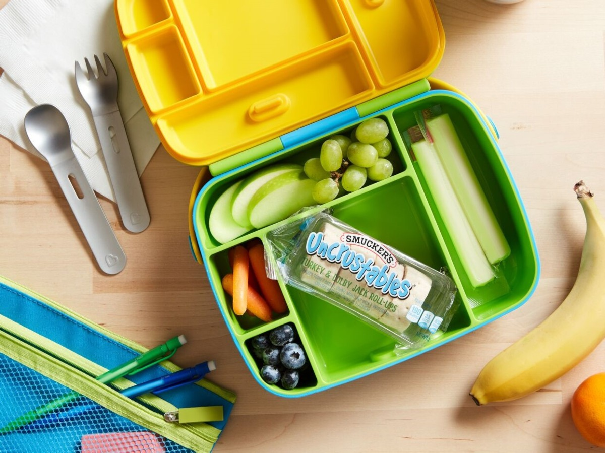 Uncrustables roll-ups in lunchbox