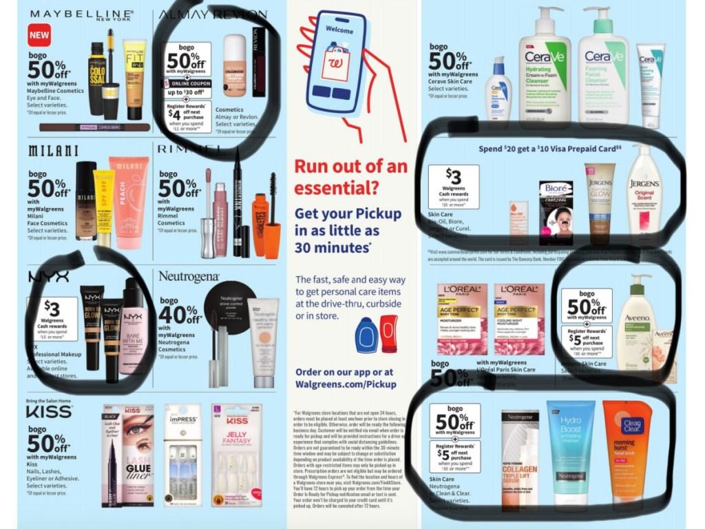 walgreens weekly sale items circled