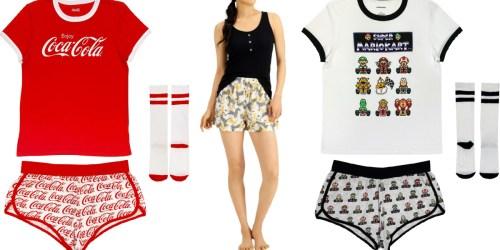 Women's Pajama Sets from $8.96 on Macys.com (Regularly $50)   Super Mario, Pac-Man, & More