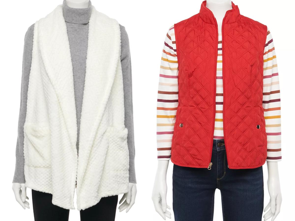 two women's vests