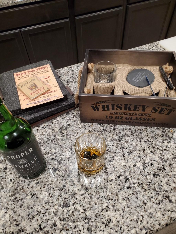 whiskey and stones bar set