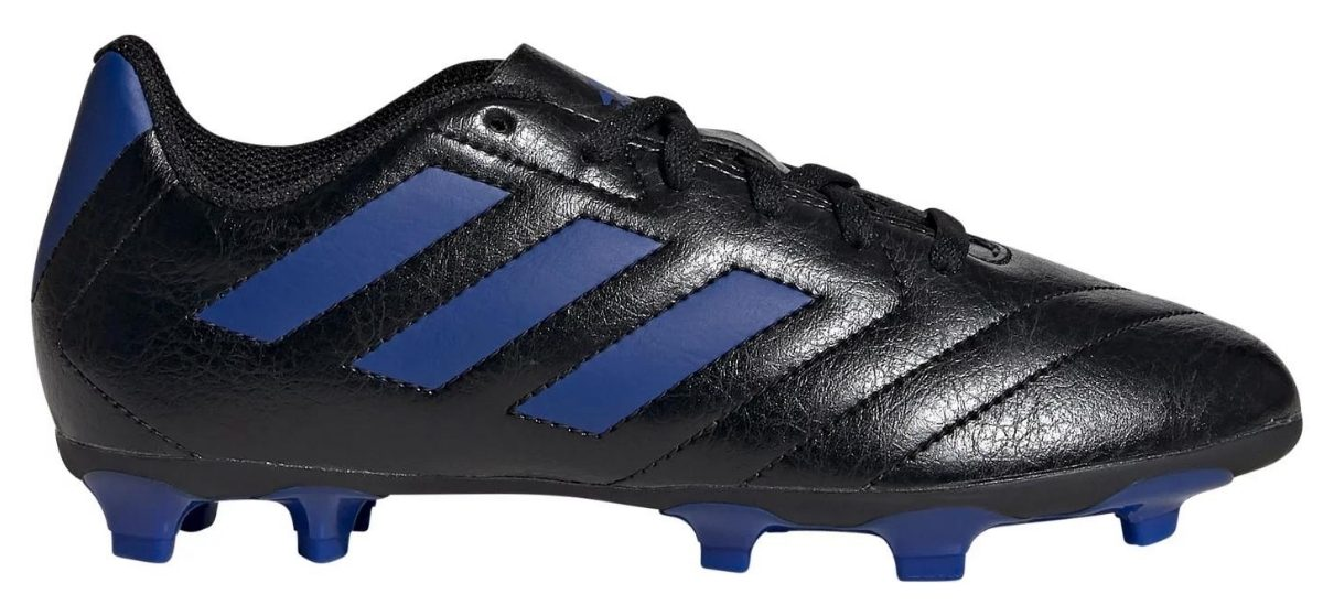 black and blue adidas goletto soccer cleats