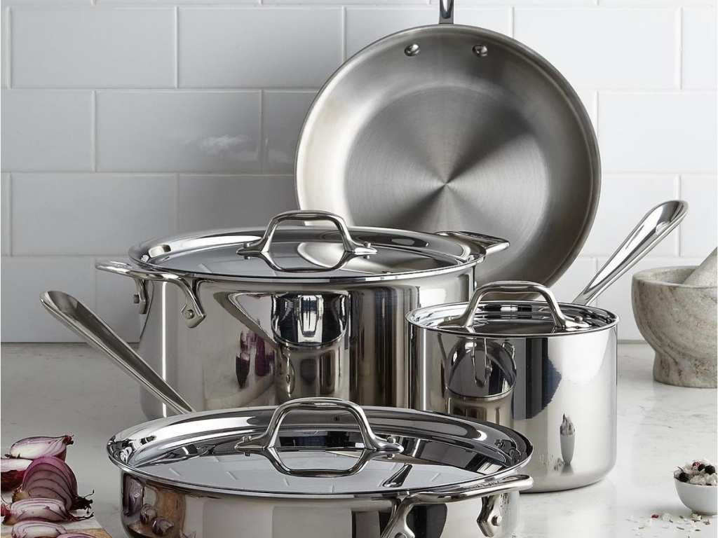 all-clad 7 piece stainless steel cook set