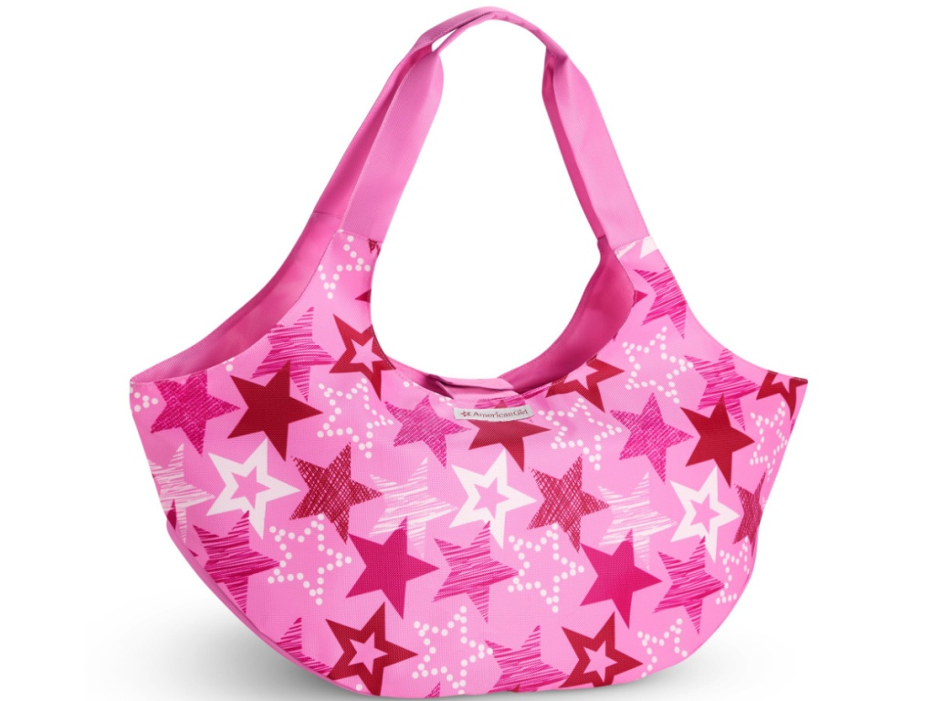 american girl doll pink tote