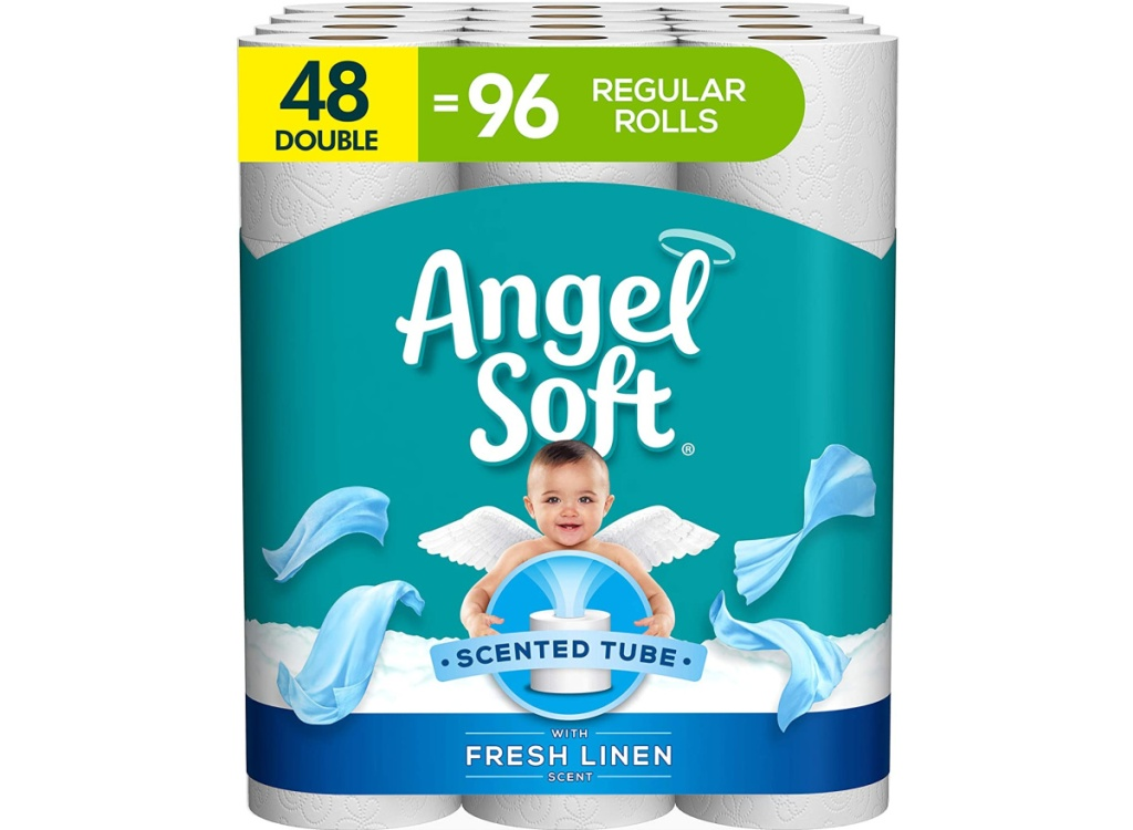 Angel Soft Toilet Paper with Fresh Linen Scent 48-Count Double Rolls