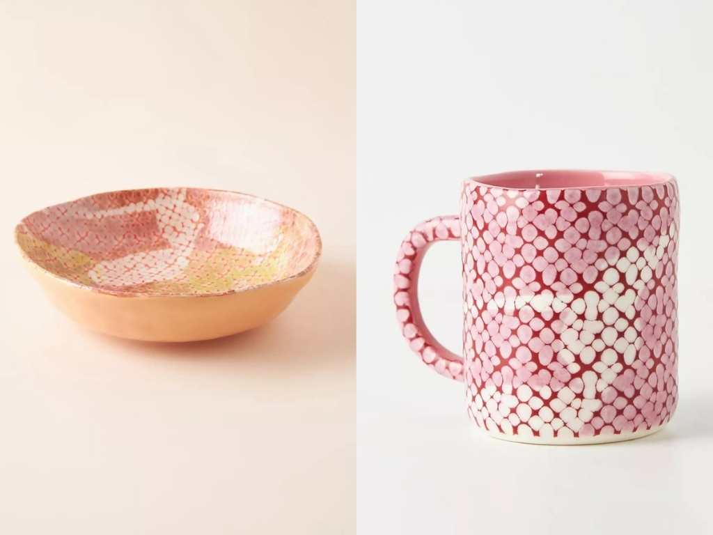 cora mug and bowl from anthropologie