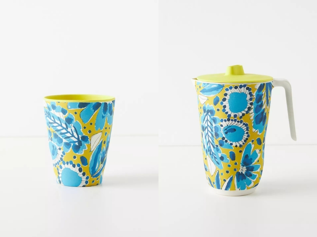 vera for anthropologie tumbler and pitcher