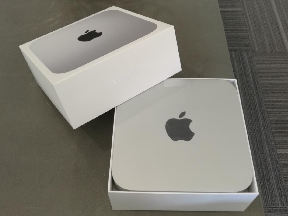 Apple Mac Mini in boxes
