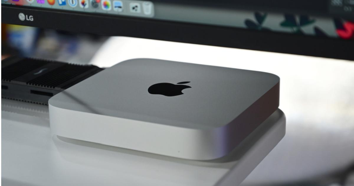 Apple Mac Mini on table