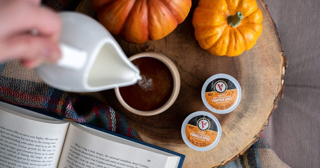 Autumn Fav Kcups with cup of coffee