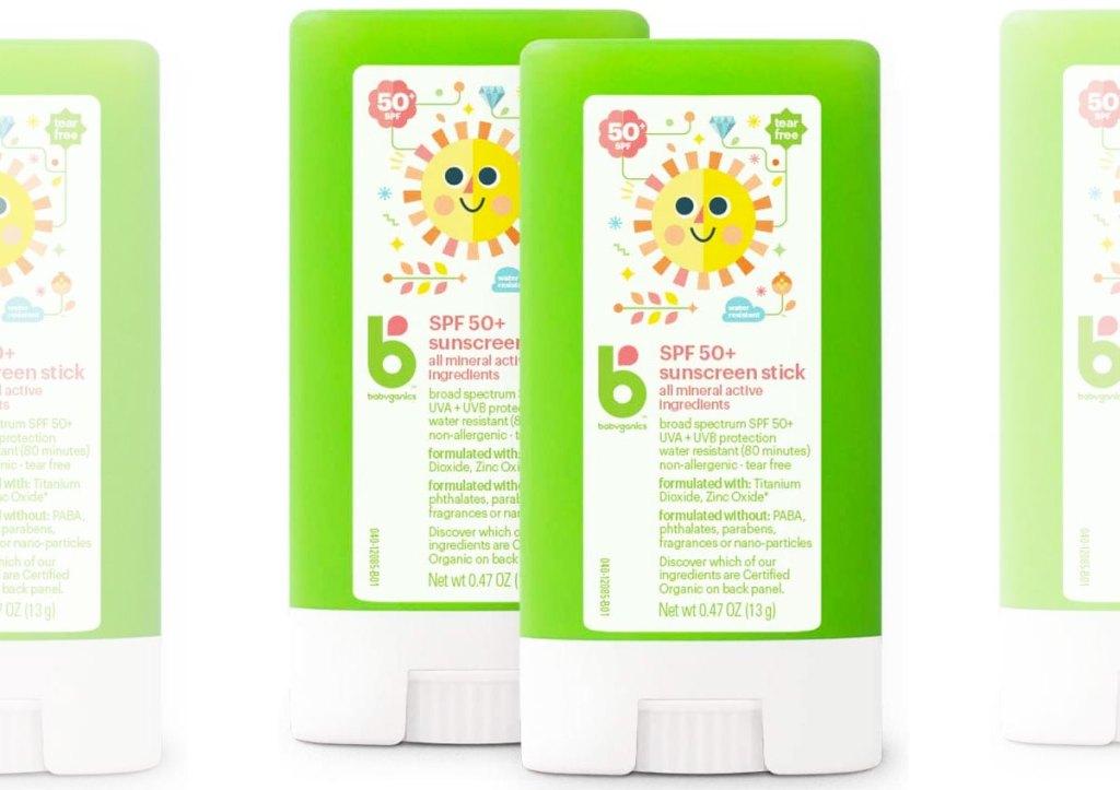 green babyganics sunscreen sticks