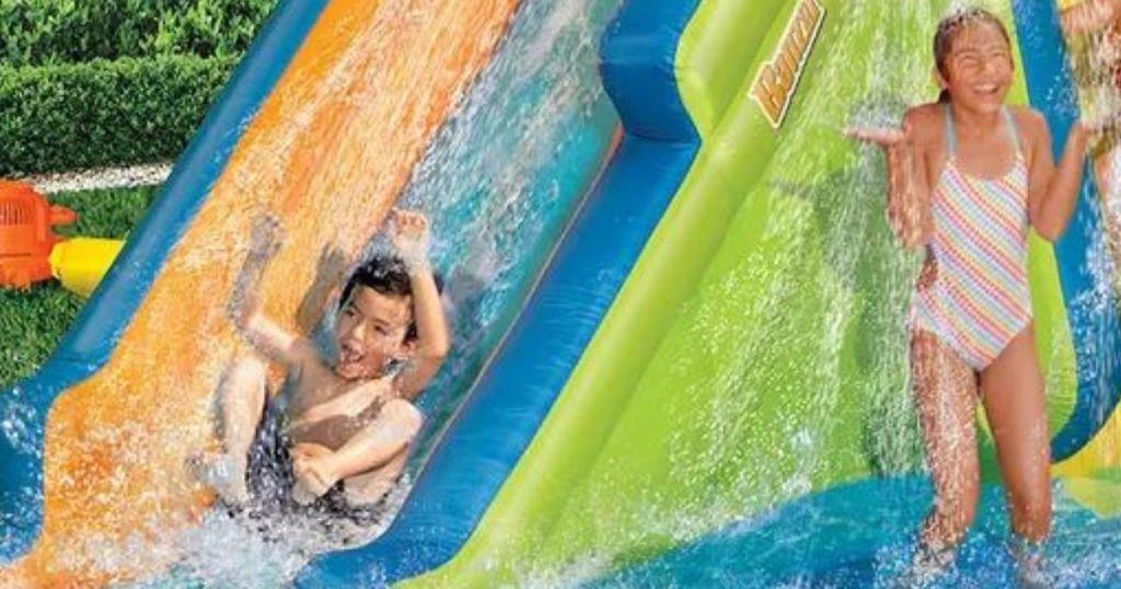 kid on a slide
