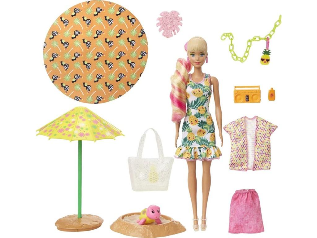 Barbie Color Reveal Foam Doll & Pet Friend w/ 25 Surprises