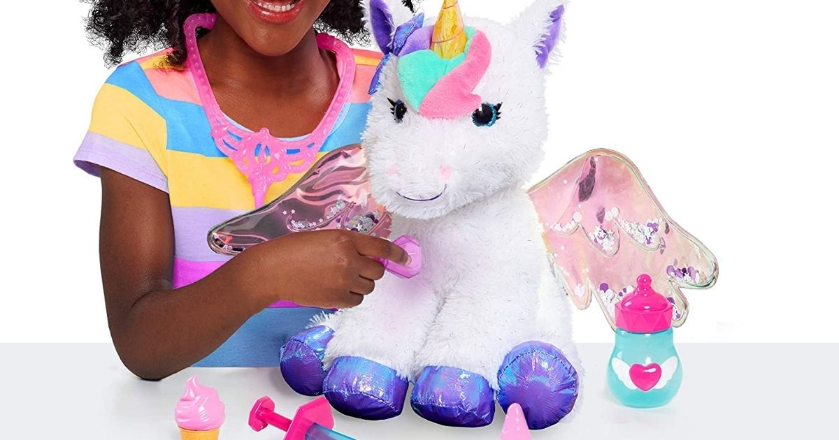 kids playing with unicorn doctor set