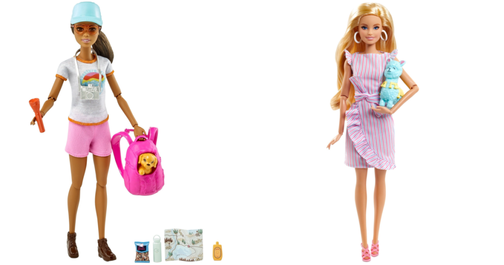 Barbie Hiking doll and doll with cat