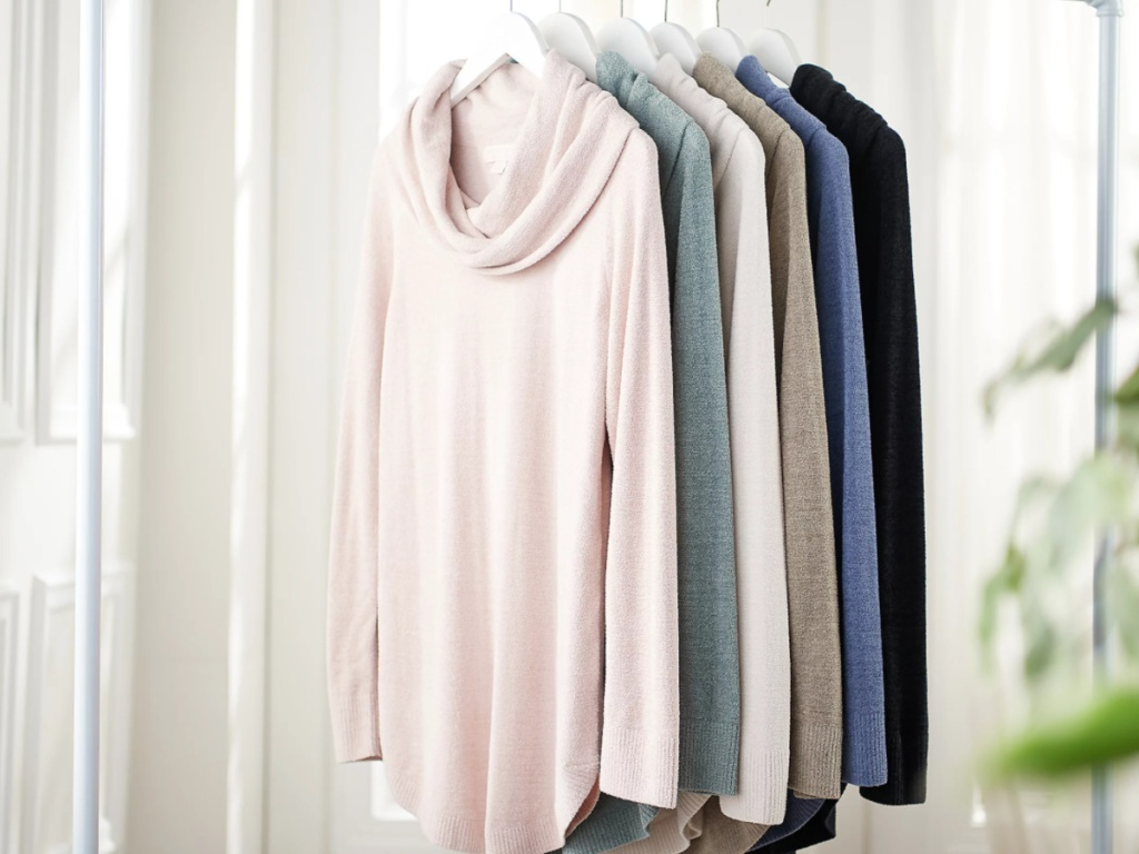barefoot dreams cowlneck sweaters