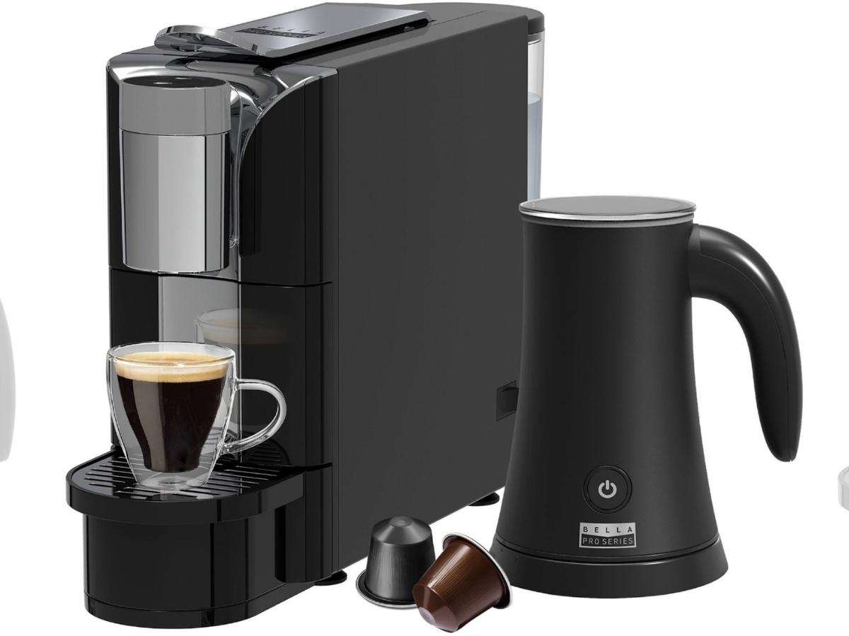 Bella Pro Series Capsule Coffee Maker & Milk Frother
