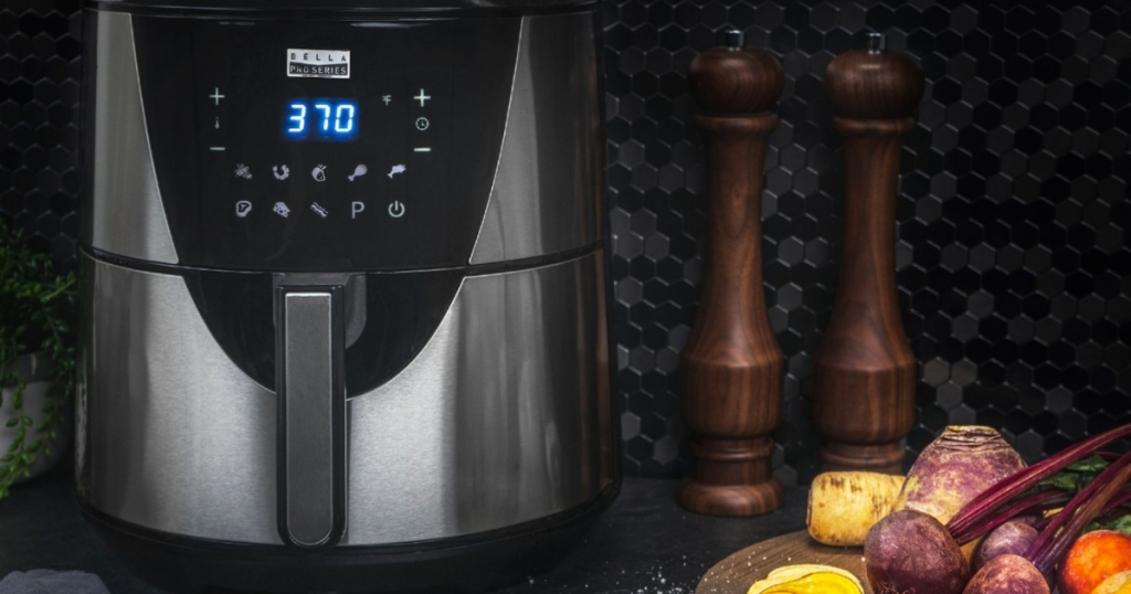 bella pro series touchscreen air fryer on counter