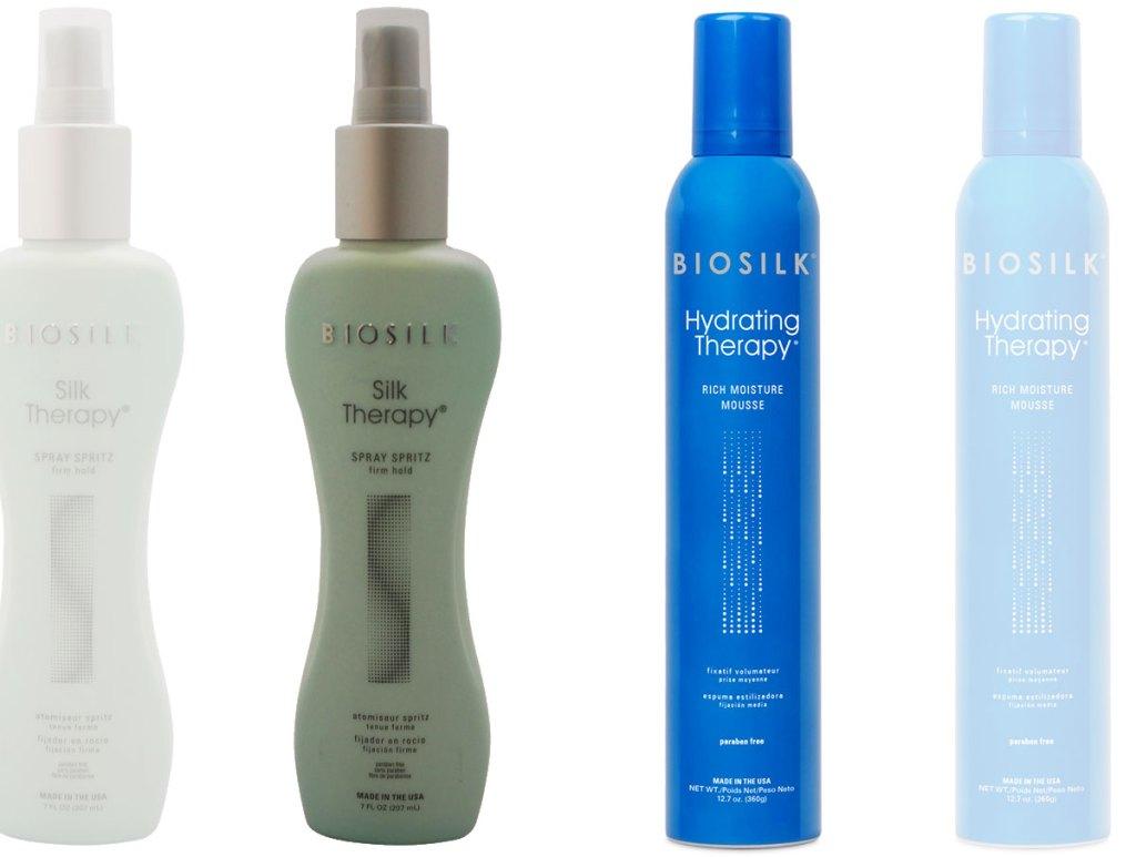 biosilk hair styler bottles