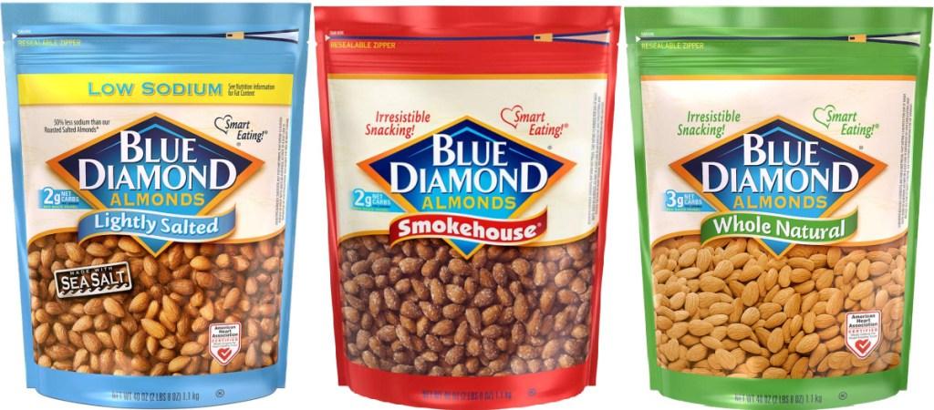 Blue Diamond Almonds 40oz Bags