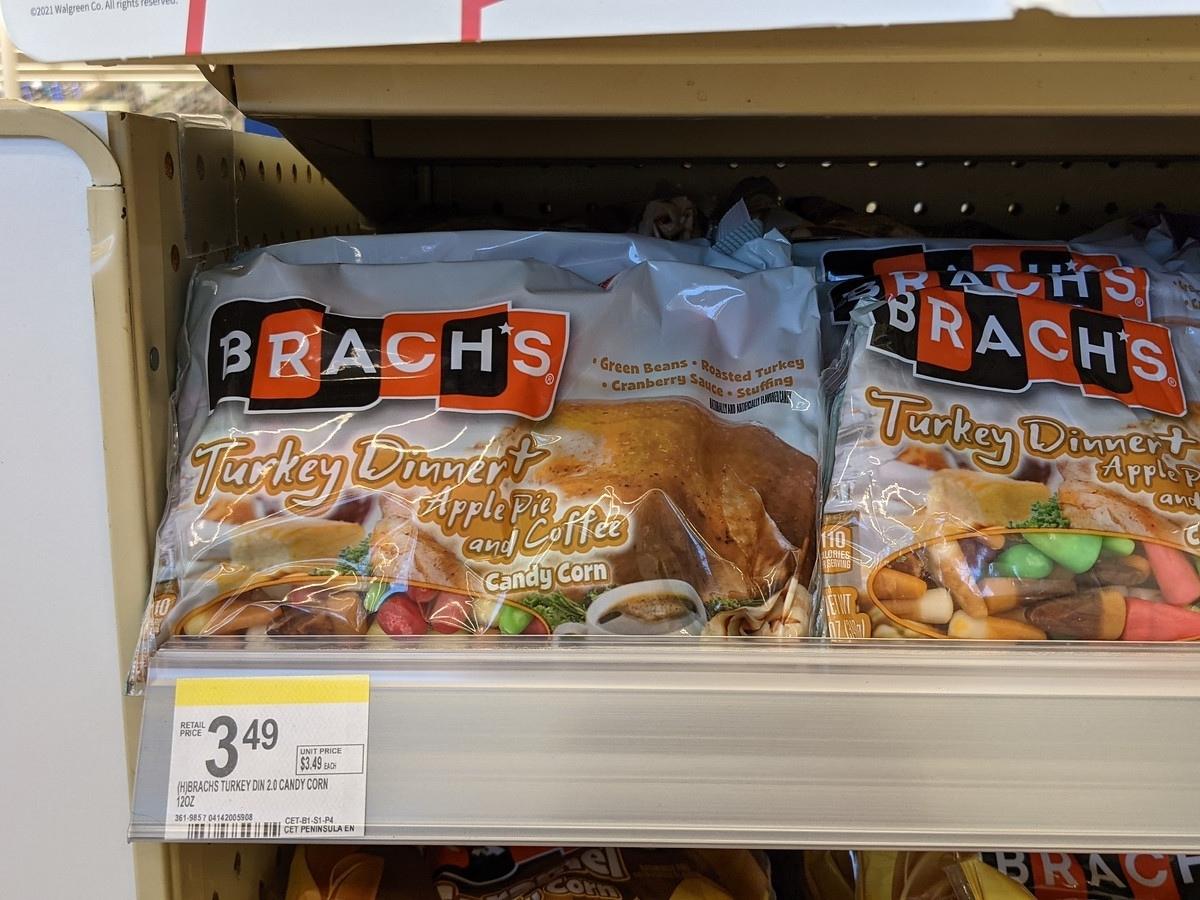brach's thanksgiving candy corn on shelf