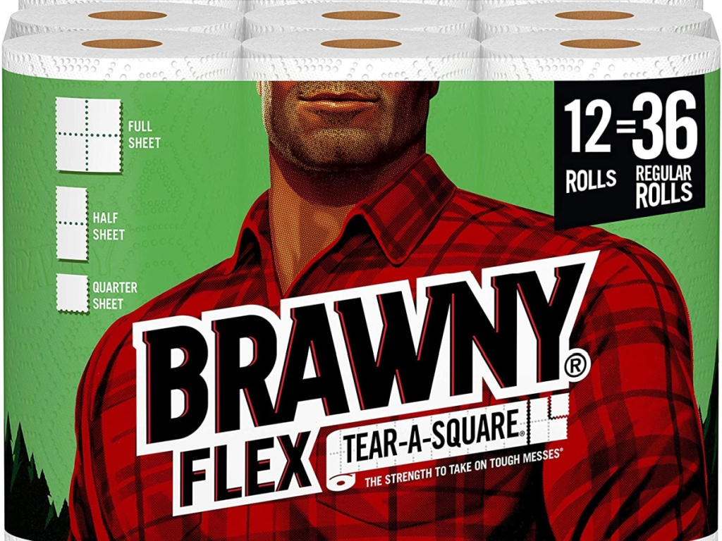 package of 12 brawny paper towels