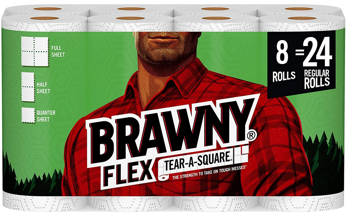 package of 8 brawny paper towels