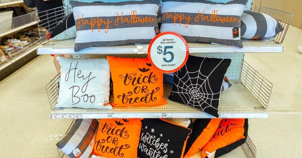 Bullseye's Playground Halloween Throw Pillows
