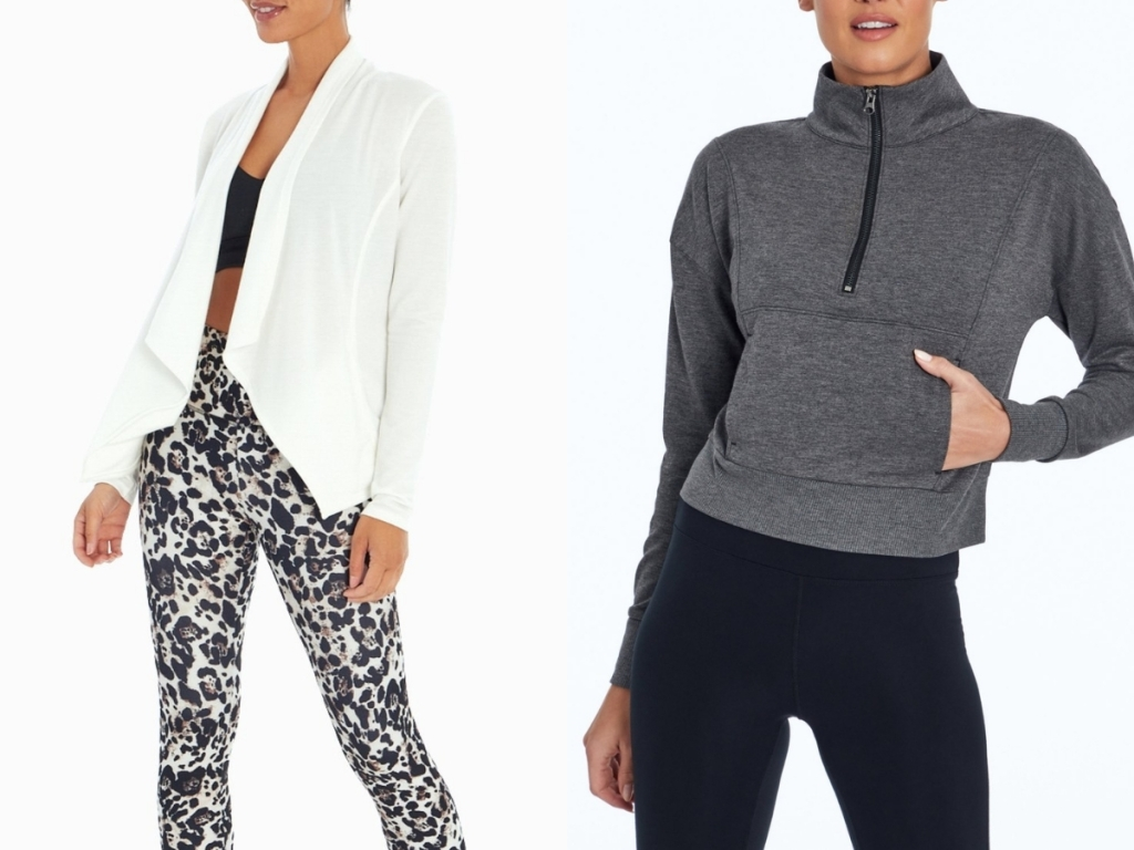 white cardigan and gray pullover from marika