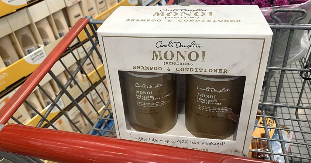 Carol's Daughter Monoi Shampoo and Conditioner in Costco shopping cart