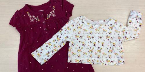 Carter's Baby Girl 2-Piece Bodysuit Dress Sets Only $11 on Kohls.com (Regularly $26)