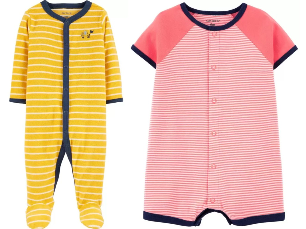 carter's boys rompers and pajamas